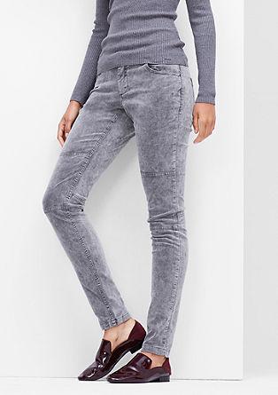 Shape Super Skinny: Velvet trousers from s.Oliver