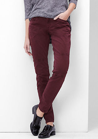 Shape Super Skinny: Velvety twill trousers from s.Oliver