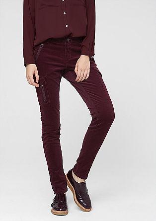 Shape Superskinny: hlače iz rebrastega žameta