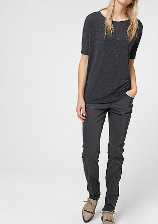 Shape Superskinny: Materialmix-Jeans