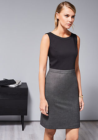 Sheath dress in a two-tone design from s.Oliver