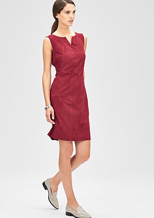 Sheath dress in imitation suede from s.Oliver