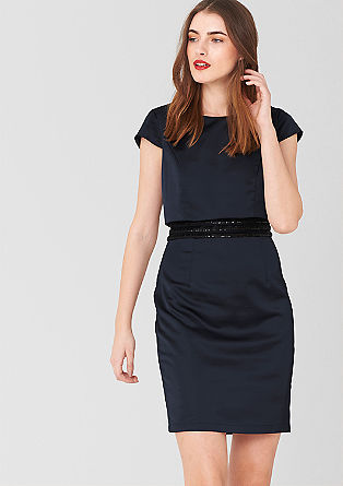 Sheath dress with sequins from s.Oliver