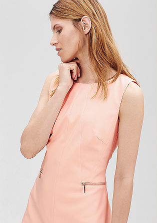 Sheath dress with zip details from s.Oliver