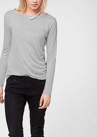 Sheer, glittery long sleeve top from s.Oliver
