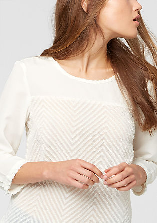 Sheer patterned blouse from s.Oliver
