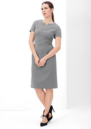 Shift dress in a monochrome look from s.Oliver