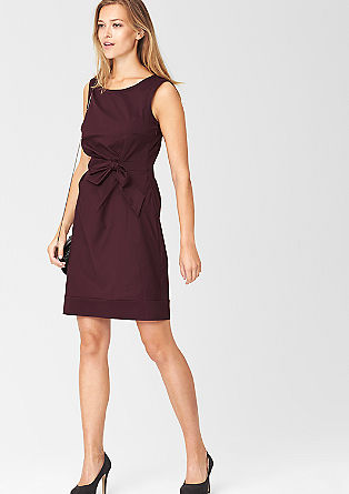 Shift dress with a draped effect from s.Oliver