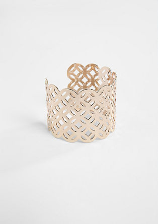 Shiny bangle with an openwork pattern from s.Oliver