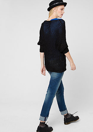 Shiny chunky knit jumper from s.Oliver