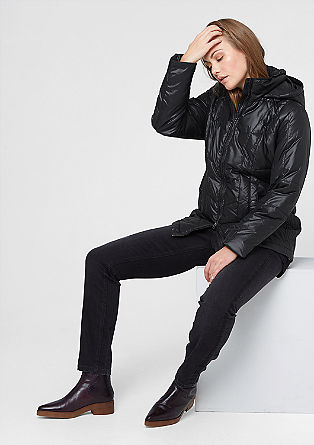Shiny quilted jacket from s.Oliver