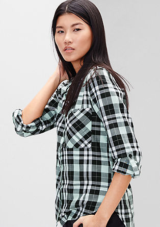 Shirt blouse with large checks from s.Oliver