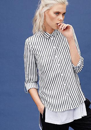 Shirt-blouse with narrow stripes from s.Oliver