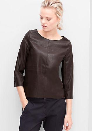 Shirt in Leder-Optik
