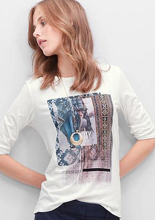 Shirt met 3/4-mouwen en print