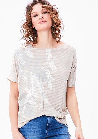 Shirt met ausbrenner effect en print