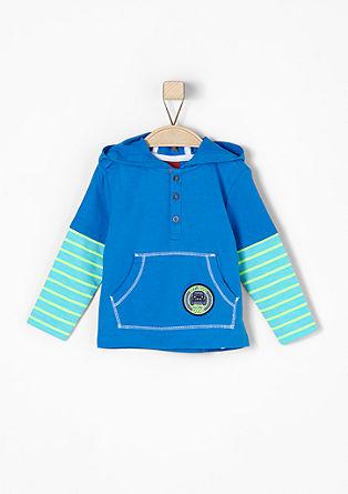 Shirt met capuchon, in een lagenlook