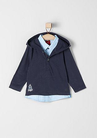 Shirt met capuchon, met 2-in-1-look