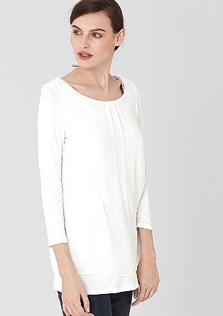 Shirt met een chiffon laagjeslook