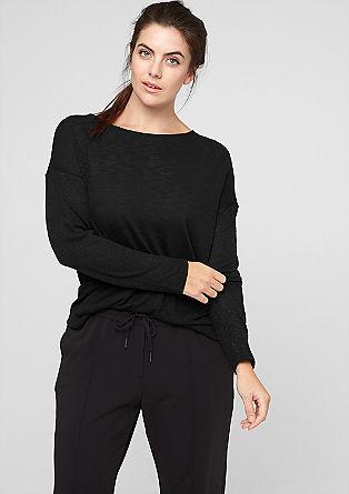 Shirt met een crêpe rugpand