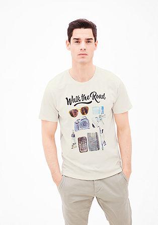 Shirt met een geïllustreerde print
