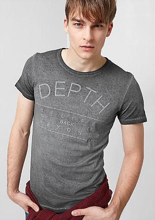 Shirt met een print en een vintage look
