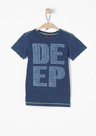 Shirt met een print en neonkleurige accenten