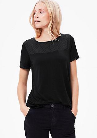 Shirt met een transparant effect