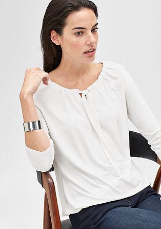 Shirt met een wijde hals