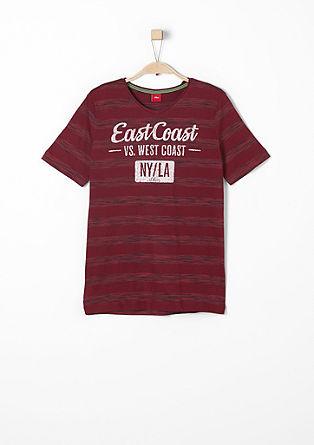 Shirt met flockprint