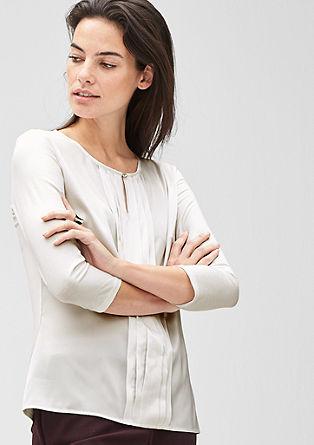 Shirt met gebiesde plooitjes