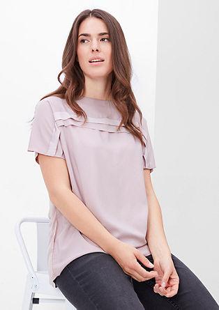 Shirt met geraffineerde details.