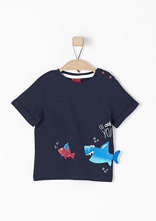 Shirt met grappige kreeftapplicatie