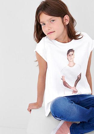 Shirt met Justin Bieber-print