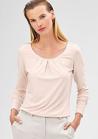 Shirt met lange mouwen en plooien