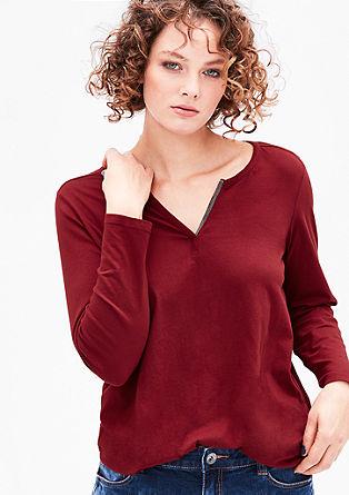 Shirt met metalen detail