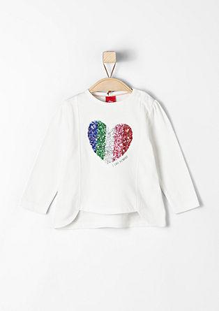 Shirt met pailletjes in de kleuren van de regenboog