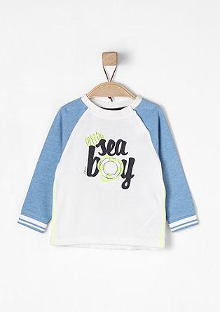 Shirt met raglanmouwen en neonkleurige details