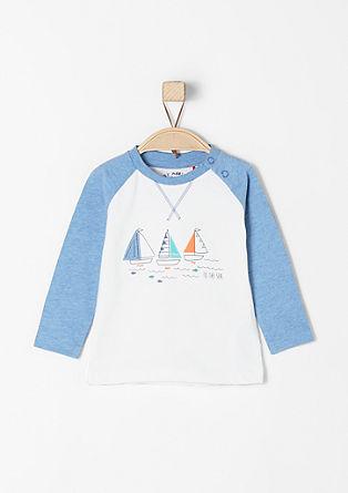 Shirt met raglanmouwen en zeilboten