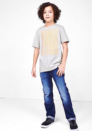 Shirt met rubberen neonprint