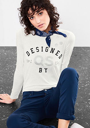 Shirt met signature-print
