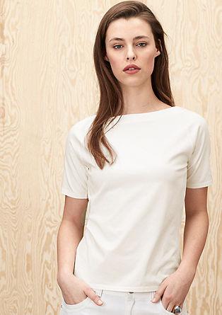 Shirt met stretch en raglanmouwen