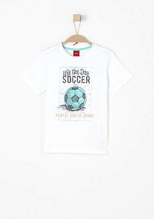 Shirt met voetbalprint