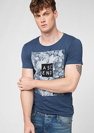Shirt mit Bild-Schrift-Mix-Print