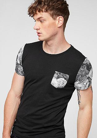 Shirt mit floralen Print-Details