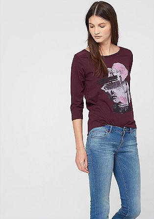 Shirt mit Frontprint und 3/4-Arm