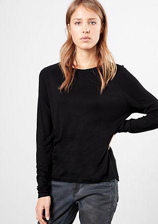 Shirt mit gemustertem Rückenteil