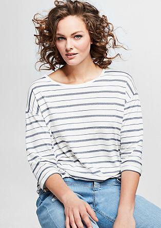 Shirt mit glänzenden Streifen