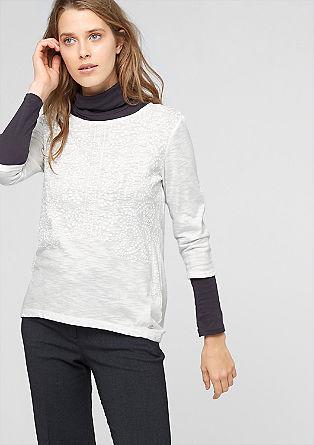 Shirt mit gummiertem Muster-Print