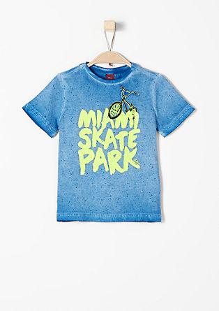 Shirt mit gummiertem Print
